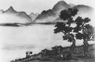 Chiang Yee, Cows in Derwentwater